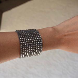 Michael Kors rhinestone suede bracelet